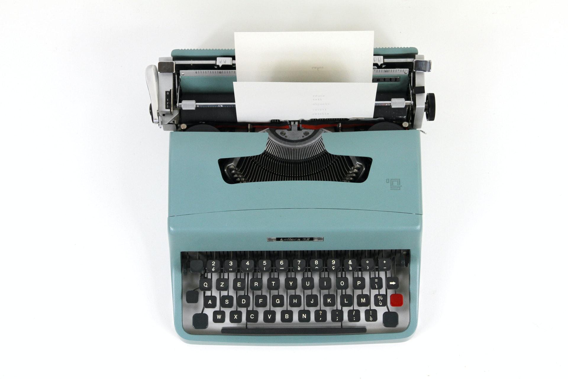 Typemachine Waarom schrijft een auteur concentratie tijdens het schrijven